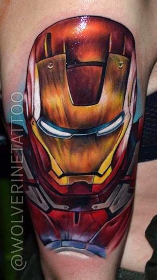 Andrex Tatuador Artist best of tattoo iron man