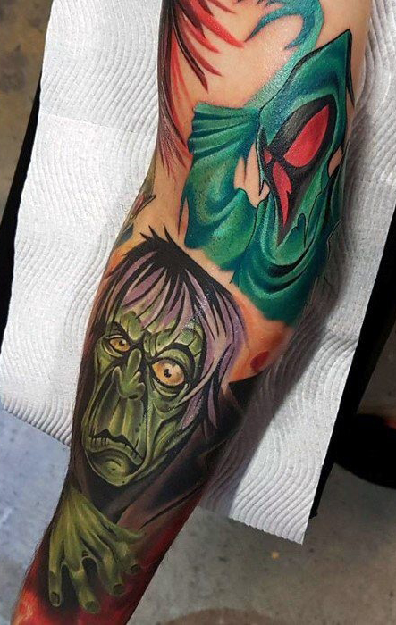 Craig Watson geek peau best of tattoo scoobydoo