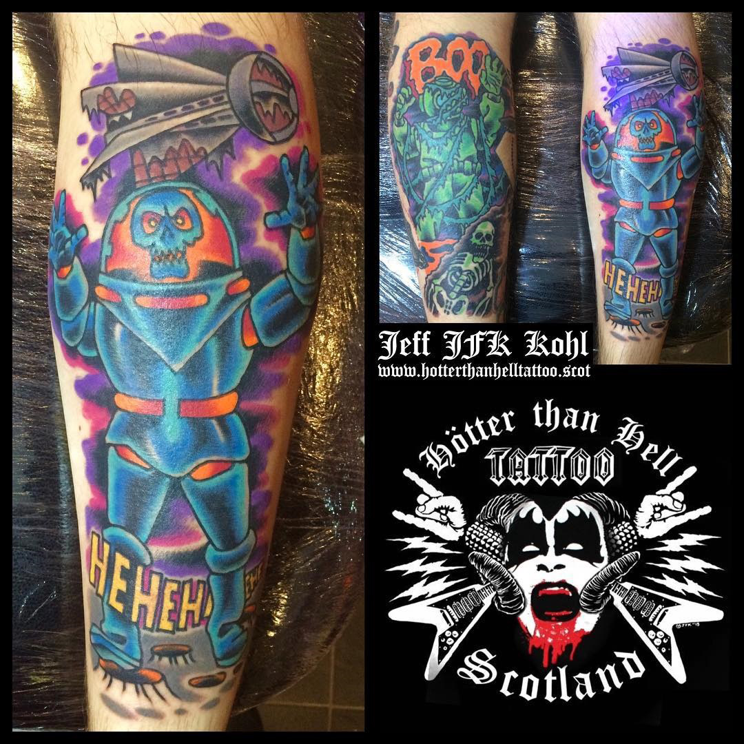 Hotter Than Hell Tattoo geek peau best of tattoo scoobydoo