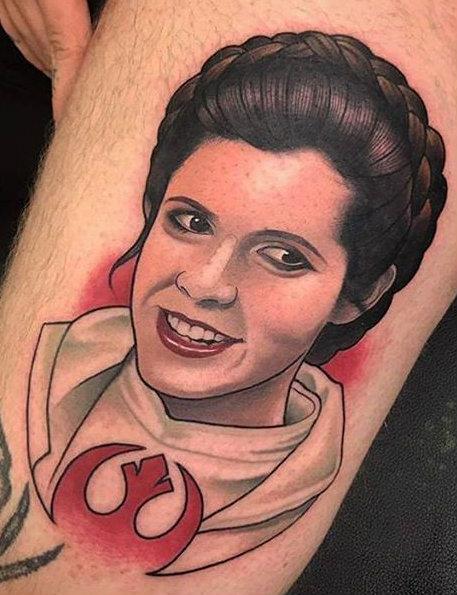 Princess Leia Adam Knowles best of tattoo star wars