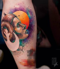 Versus Ink best of tattoo star wars leia