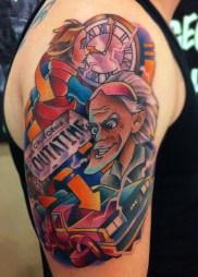 Andy Walker geek dans la peau best of tattoo back to the future