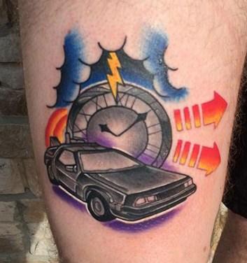 John West geek dans la peau best of tattoo back to the future