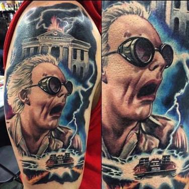 Josh Bodwell geek dans la peau best of tattoo back to the future