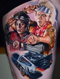 Ben Ochoa geek dans la peau best of tattoo back to the future