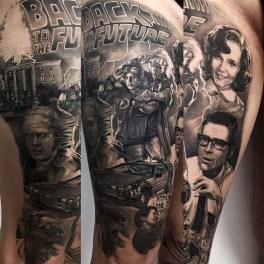 Michele Mazzetto geek dans la peau best of tattoo back to the future