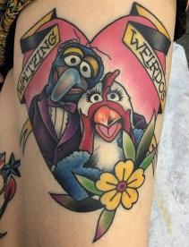 Megon Shoreclay muppets tattoo geek
