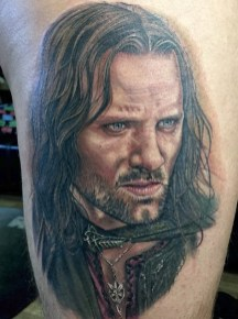 Chris Jones LOTR lord of the ring geek tattoo tag