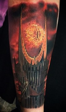 Chris Lopez LOTR lord of the ring geek tattoo tag