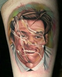 Chris Meighan geek peau best tattoo jim carrey tag