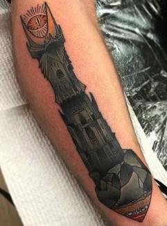 Heath Clifford LOTR lord of the ring geek tattoo tag