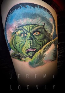 Jeremy Looney geek peau best tattoo jim carrey tag
