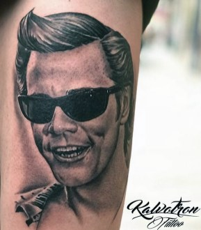 Kalvotron Tattoo geek peau best tattoo jim carrey tag