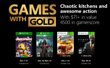 xbox games with gold octobre 2018