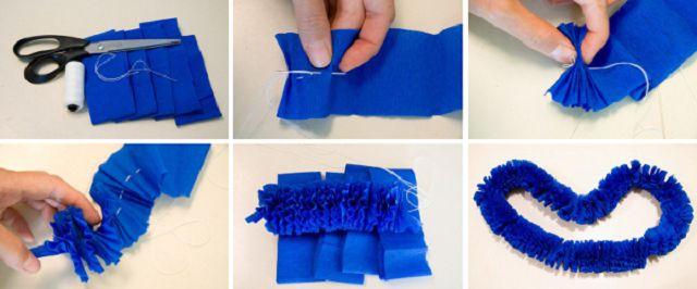 Gør kranser fra bølgepapir