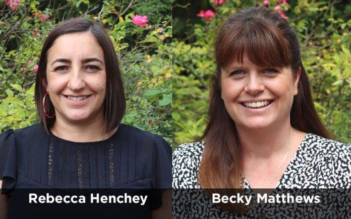 Golden Bear Rebecca Henchey and Becky Matthews