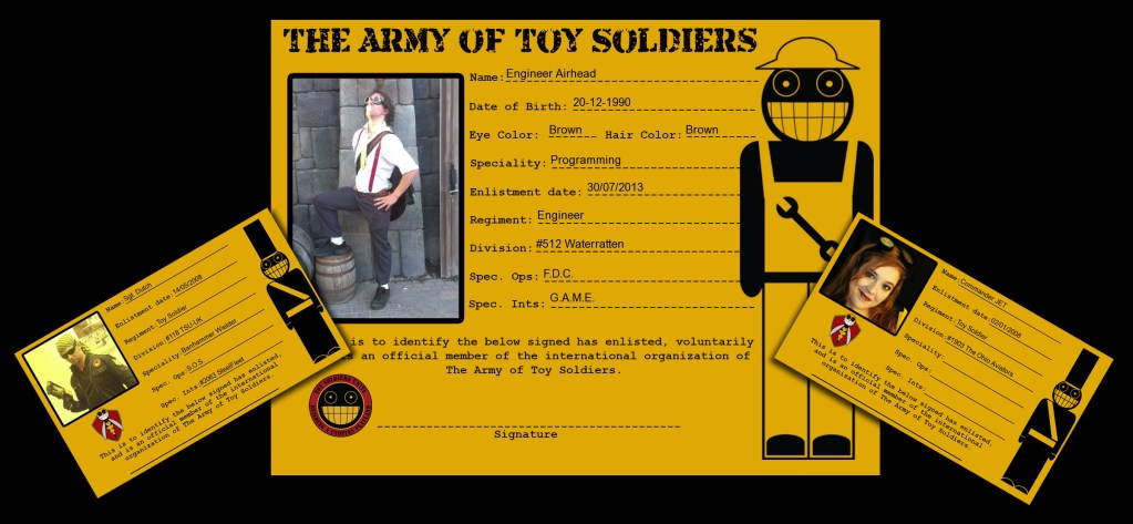 Toy Soldier Identification cards