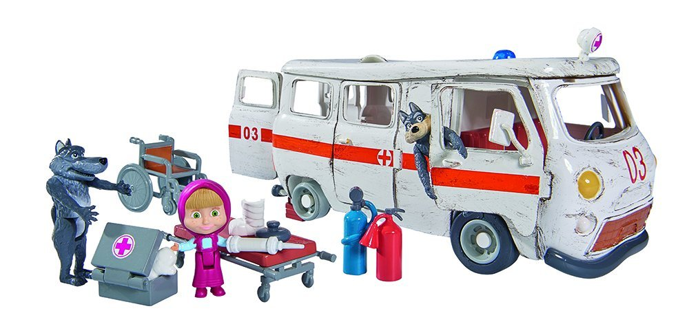 Go Ambulancia Toys Oso El La Masha The De Y On WD2YEH9I