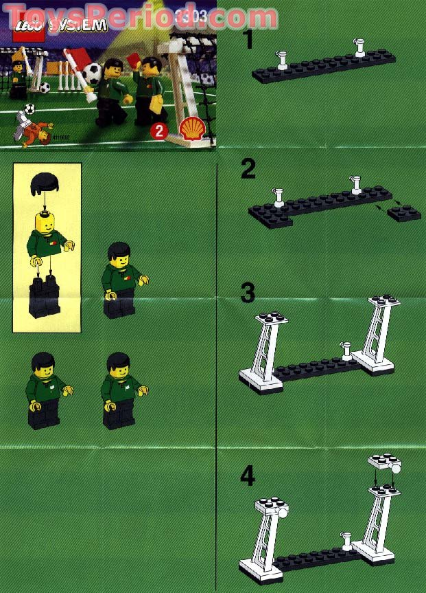 LEGO 3303 Shell Promotional Set Soccer Field Accessories
