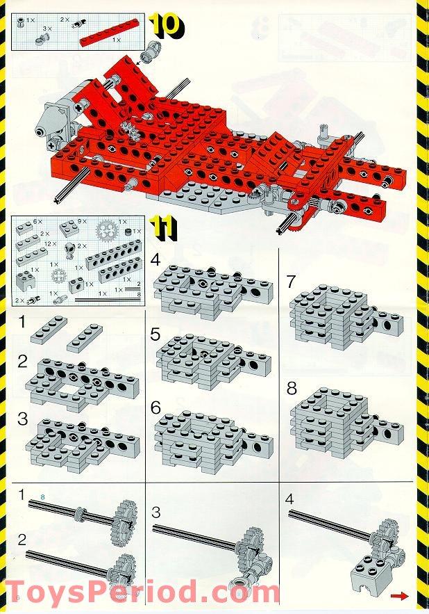 lego 8842 go kart set parts inventory