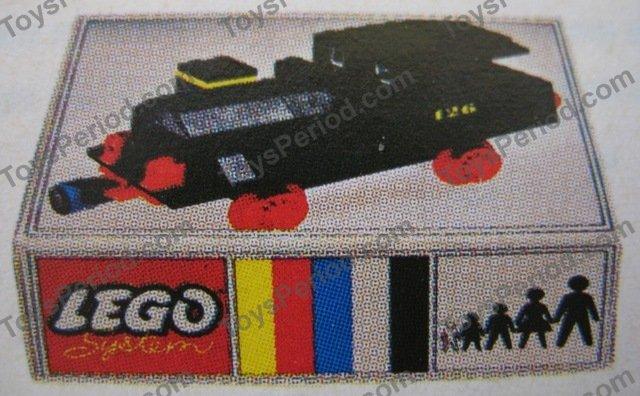 LEGO 126 Push Along Steam Locomotive Set Parts Inventory