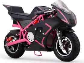 MotoTec Cali 36v Electric Pocket Bike Pink