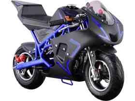MotoTec Cali Gas Pocket Bike 40cc 4-Stroke Blue