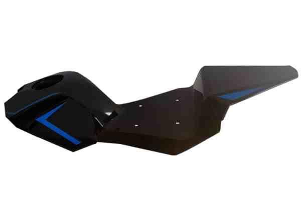 MotoTec Electric Pocket Bike Seat Body Blue