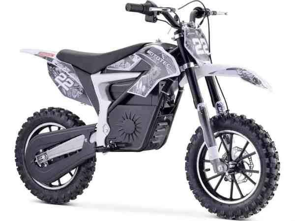 MotoTec 36v 500w Demon Electric Dirt Bike Lithium White