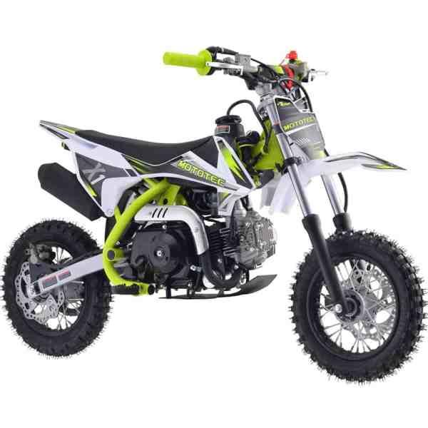 MotoTec X1 70cc 4-Stroke Gas Dirt Bike Green