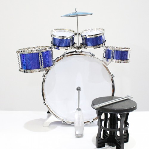 21pcs Toy Drum Play Set  Jazz Drum Set with Stool