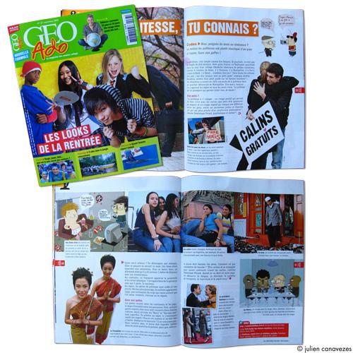 illustrateur magazine geo ado