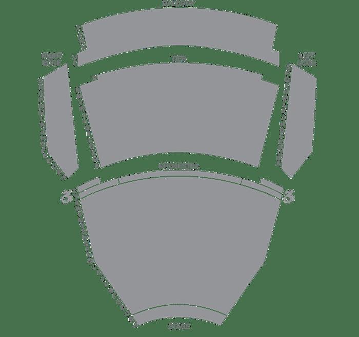 Andrew Jackson Hall Seat Map Tpac