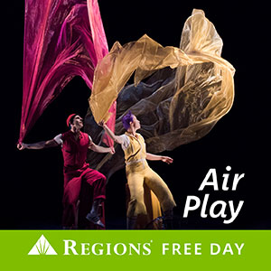 Air Play two people dancing with fabric