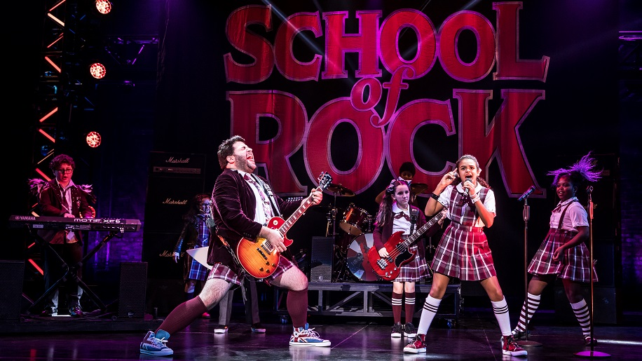 """The cast of the """"School of Rock"""" tour."""