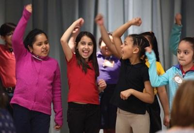 Students participating in TPAC's Disney Musicals in Schools program.