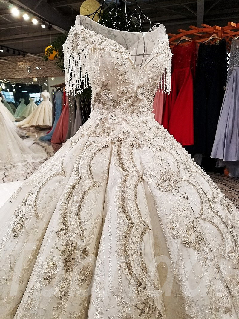 Haute Couture Wedding Dress 2018 Ball Gown For Sale • tpbridal