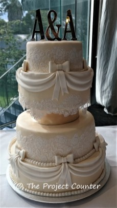 Apricot Lace Cake: Custom Order Ask For a Quote Now