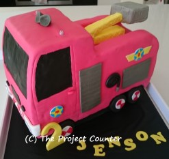 Fire Truck Cake: Custom Order Ask For a Quote Now