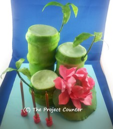 Bamboo & Lotus Cake: Custom Order Ask For a Quote Now