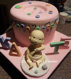 Music & Buttons Cake: Custom Order Ask For a Quote Now
