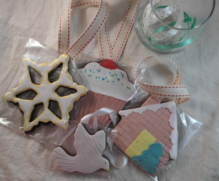 Decorated Gingerbread Tree Baubles: Visit our Etsy Store for the latest seasonal products!