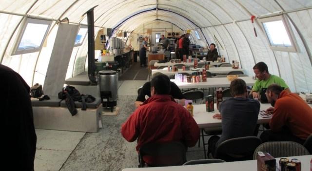 dining hut at Patriot Hills