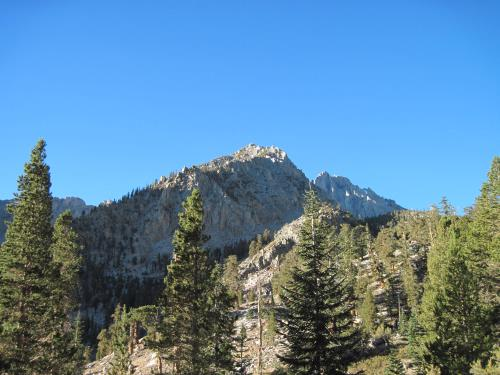 Looking up the route from trailhead