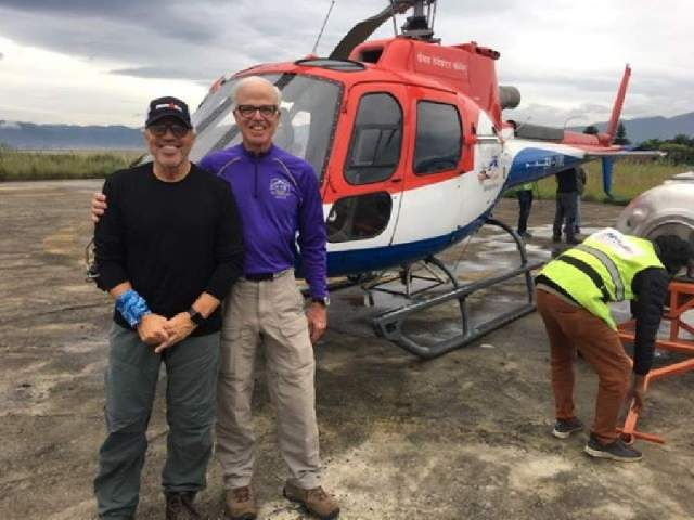 Mike and Tom at KTM Heliport