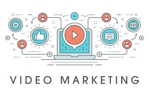Video marketing illustration.