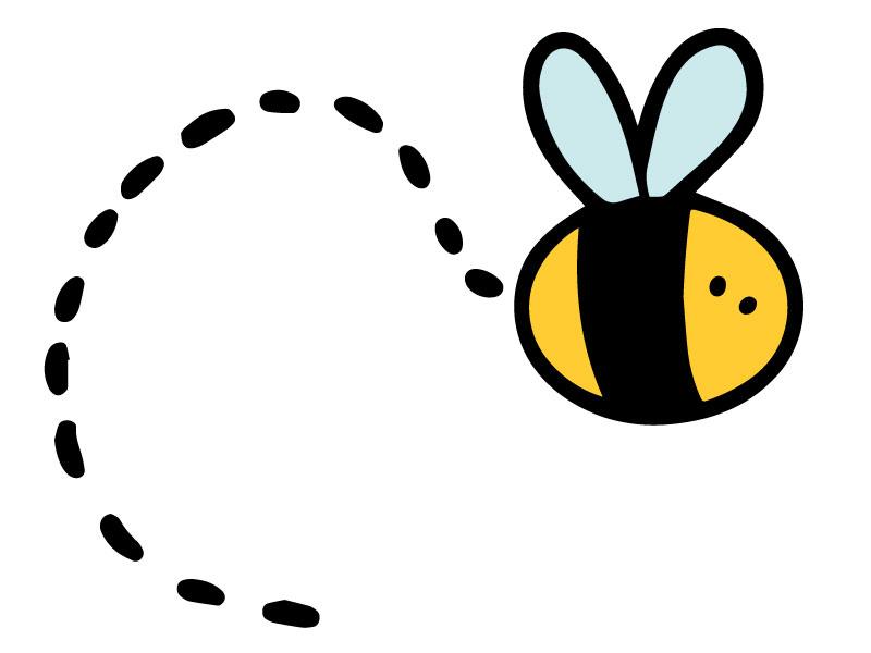 clip art of a bumblebee