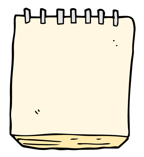 clip art of a notepad for taking notes
