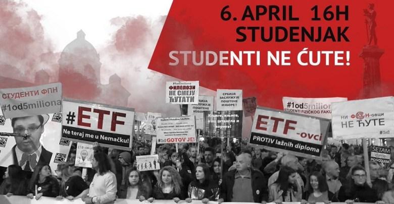 Photo of U SUBOTU, STUDENTI BLOKIRAJU BEOGRAD: Veliki protestni marš od Studenjaka, preko Vlade, do Pinka!