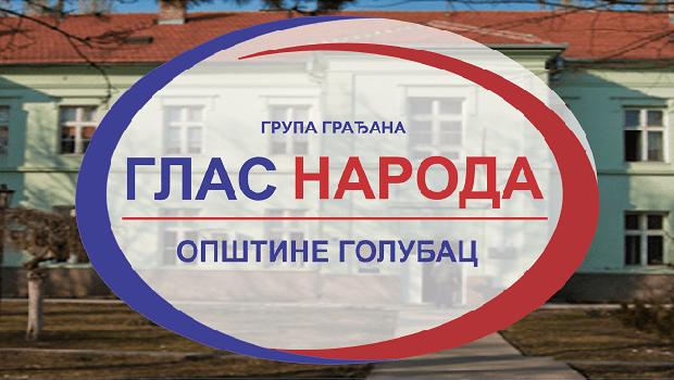 "Photo of SAOPŠTENJE ZA JAVNOST: Upozorenje grupe građana ""Glas naroda"" iz Golupca povodom opštinskih nameta"